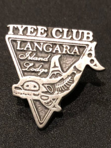 Tyee Club pin earned by Captain Gary Lachman